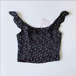 Free People Floral Crop Top- NWT size M